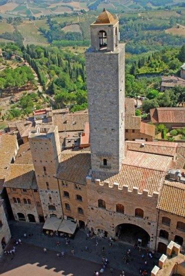 Vistas desde Torre Grossa: Piazza del Duomo