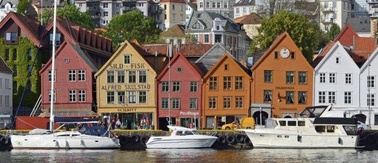 Bryggen. Muelle Hanseático