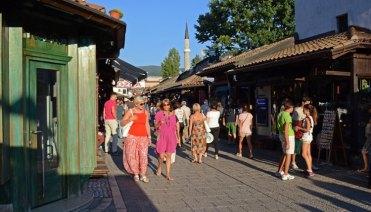 Bascarsija. Calle, Bazar y Minarete