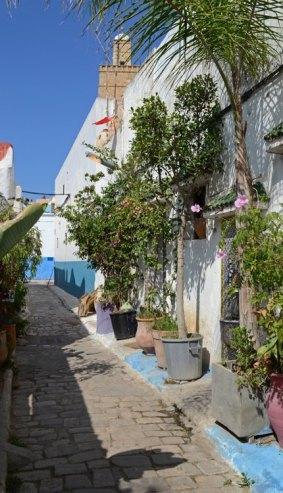 Kasbah de los Udayas. Calle y Minarete