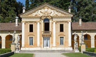 Villa Barbaro. Fachada del Cuerpo Central