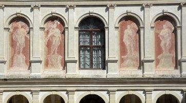 Villa Pisani. Arcos Pintados en el Patio
