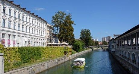 Liubliana. Río Liublianica y Mercado