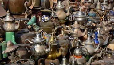 Teteras en el Mercado de Ouarzazate