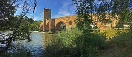El Ebro a su paso por el Puente Medieval de Frías