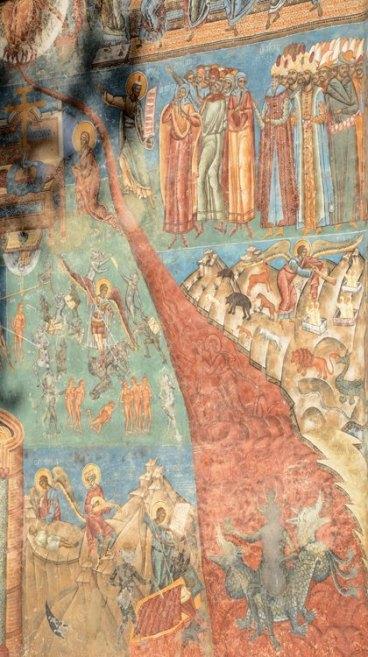 Monasterio de Voronet. Lengua de Fuego