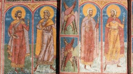 Monasterio Moldevita. Ábside. Apóstoles y Querubines