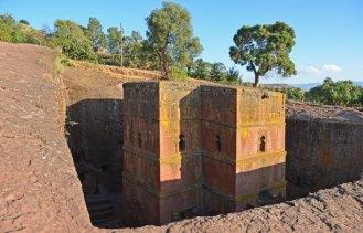 Templo monolítico excavado en la roca