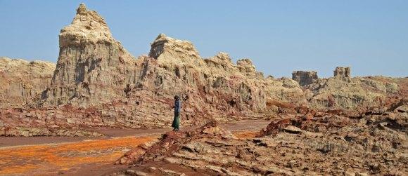 La soledad de un desierto de Sal Petrificada