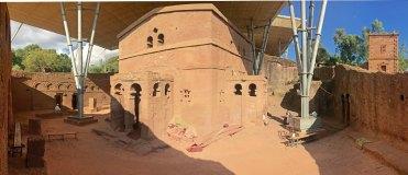 Templo de Bet Maryam visto desde el nordeeste