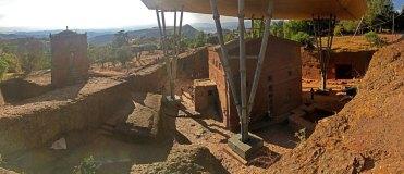 Panoramica del Conjunto Monumental con Bet Maryam en primer término