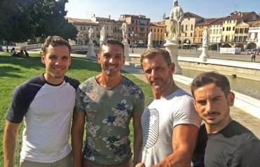 CarlosdeViaje con César, Héctor y Xabi en Padua