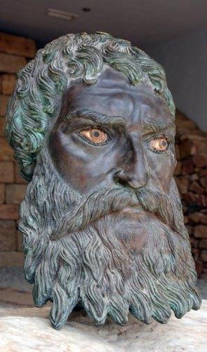 Valle de los Reyes Tracios. Busto del Rey Seutes III