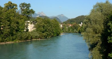 Füssen. Río Lech y Alpes Bávaros