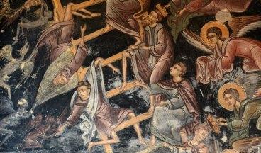 Monasterio de Rozhen. Escalera de las Virtudes