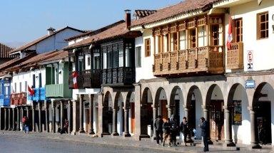 Plaza de Armas. Soportales y Casas Castellanas