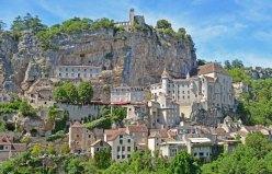 Vista de Rocamadour desde la D32