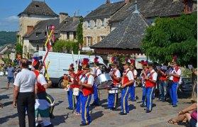 Banda de música en Najac