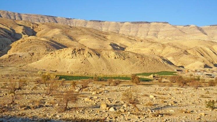 Paisaje desértico en Wadi Hasa