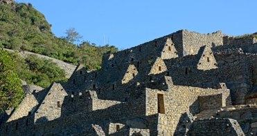 Machu Picchu. Barrio de los Nobles. Casas al Atardecer