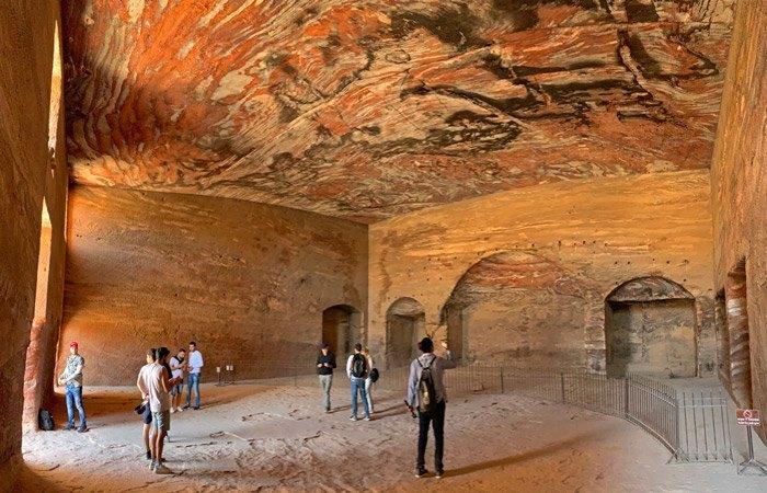 Interior de la Tumba de la Seda