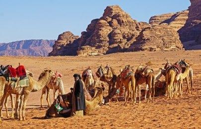 Beduinos en el desierto rojo
