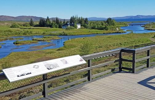 El río Öxarar a su paso por Thingvellir