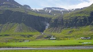 Praderas en el interior de Reyðarfjörður