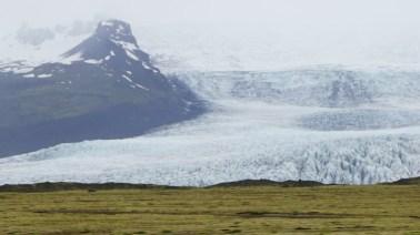 Morrena frontal del glaciar en Fjallsárlon