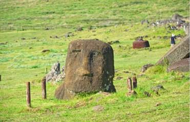 Moai en Ahu Vinapu
