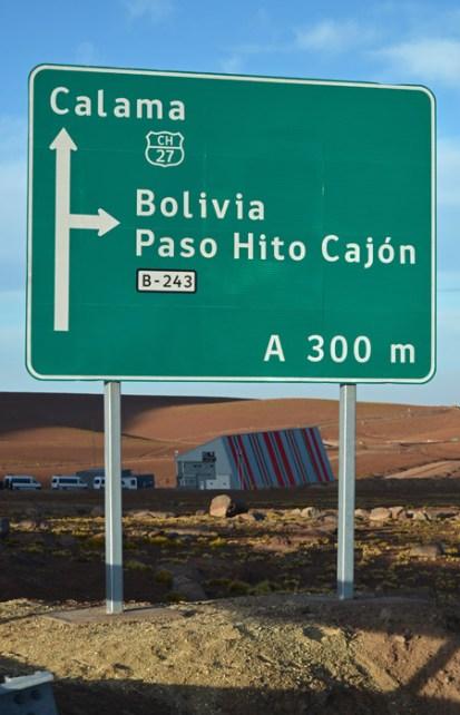 Cartel en la frontera