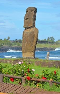 Moai en la Caleta - Hanga Roa