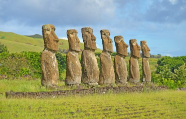 Cada moai pesa aproximadamente 18 toneladas