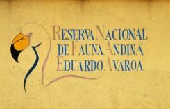 Cartel de la Reserva Nacional Eduardo Avaroa