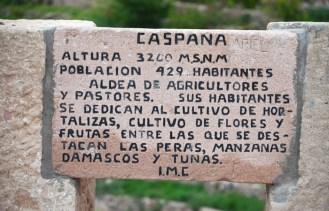 Cartel a la entrada de Caspana