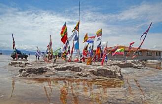 Banderas internacionales en el Hostal de Sal
