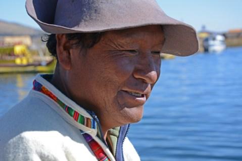 Islas de los Uros. Jefe de Poblado Aymara