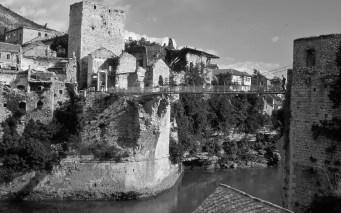 Stari Most destruido durante la Guerra de los Balcannes