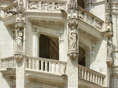Castillo de Blois - Detalle Escalera Francisco I