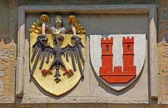Escudos de la Ciudad y del Imperio
