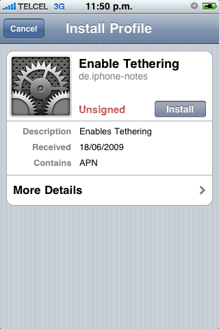 Enable Tethering