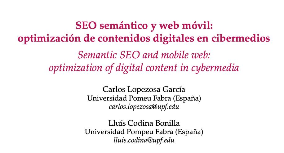 SEO semántico y web móvil