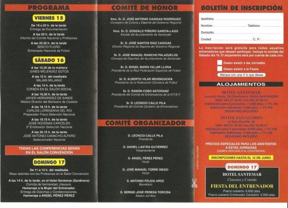 Carlos Lorenzana, 6 Jornadas Entrenadores Futbol Santander