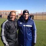 Carlos Lorenzana con Roberto Carlos en Sivasspor