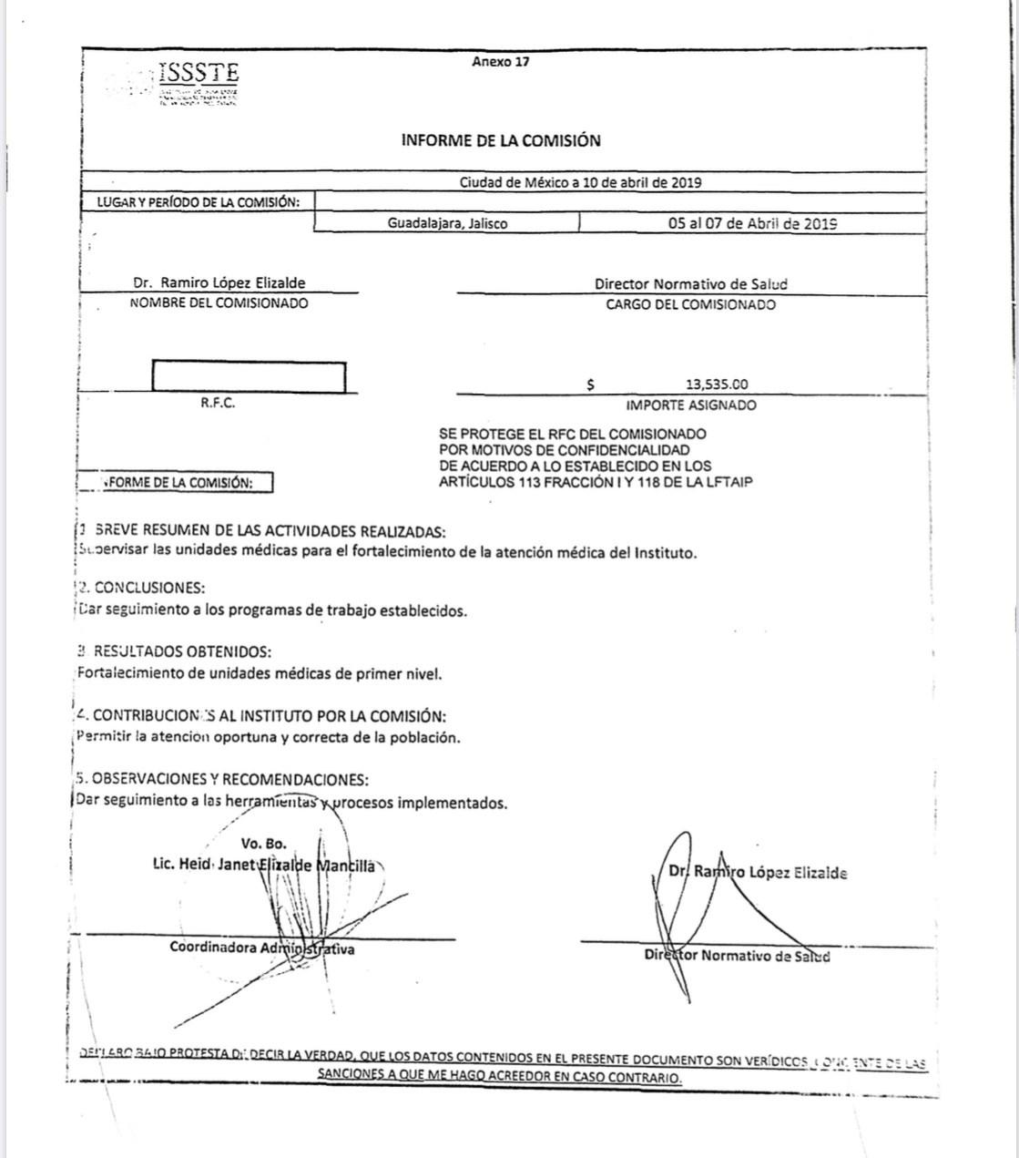 #LordViáticos : Los documentos