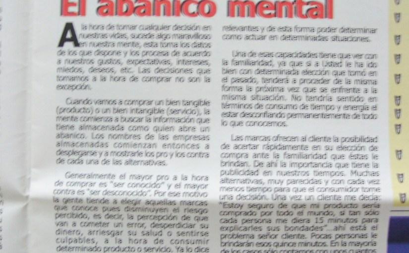 Artículos de mercadeo para el periódico Don Tendero