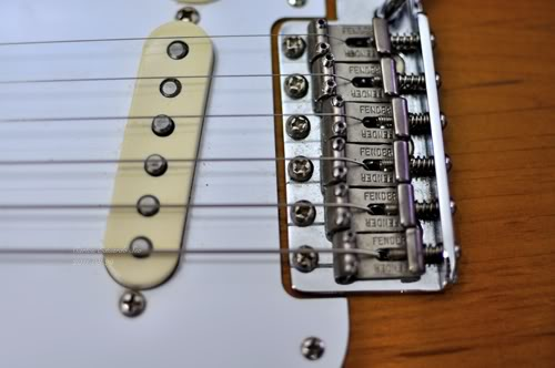 Fender American Vintage '57 Stratocaster bridge saddles
