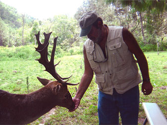 Carlos Slim and a deer