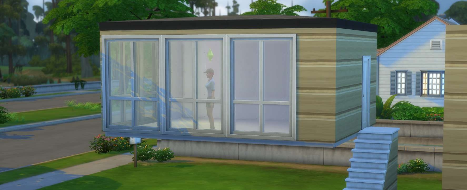 The Sims 4 Building Stairs And Basements | Outside Stairs To Basement | Outside | Brick | Beautiful | Underground | Enclosed Porch