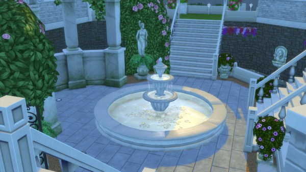 romantic garden fountain The Sims 4 Movie Hangout Stuff Pack Review